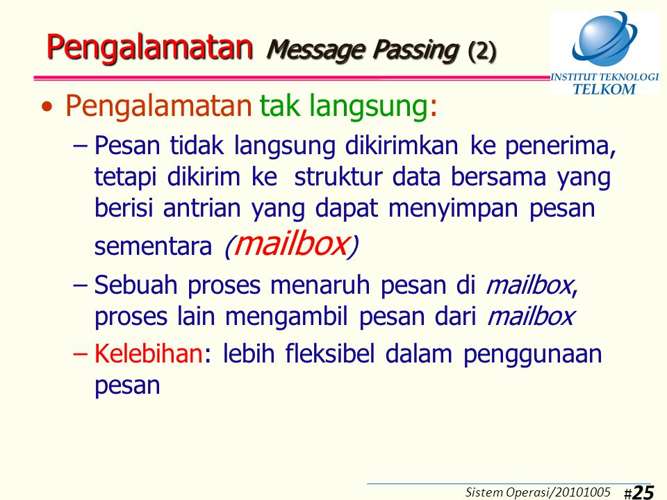 Pengalamatan Message Passing (3)