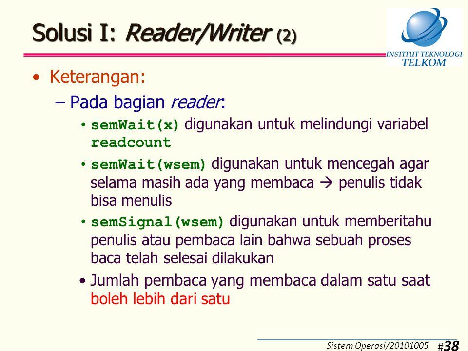 Solusi I: Reader/Writer (3)