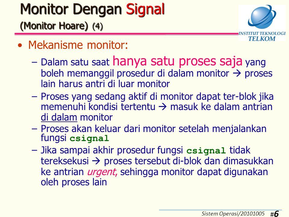 Monitor Dengan Signal (Monitor Hoare) (5)