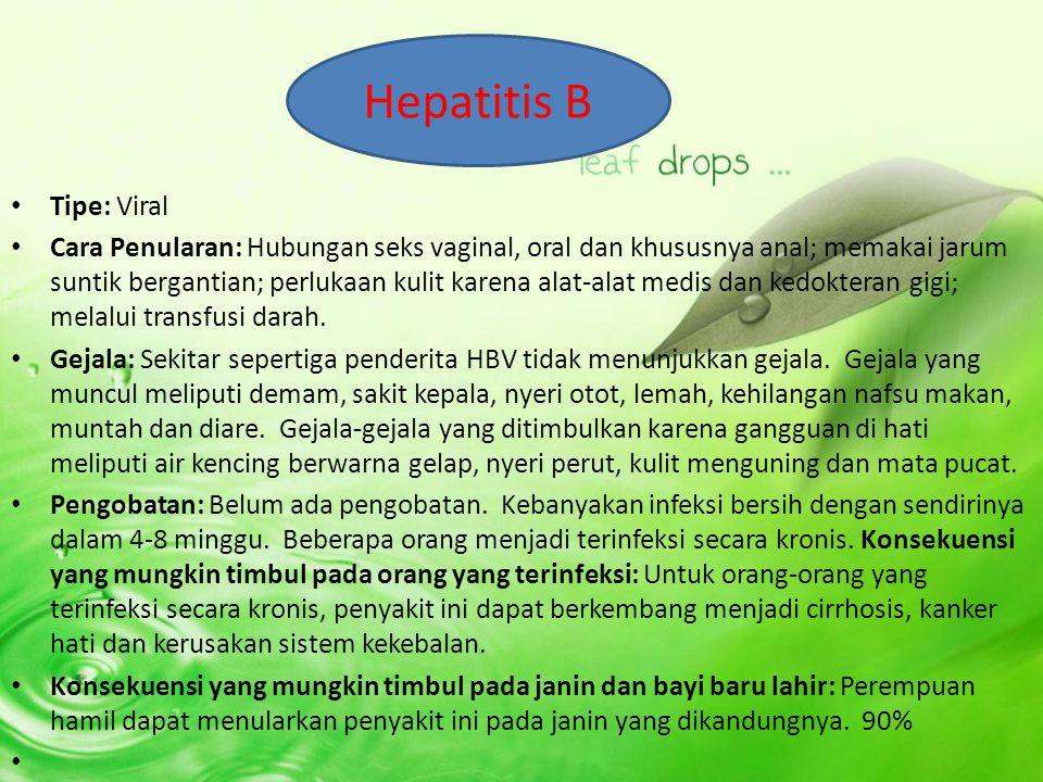 Hepatitis B Tipe: Viral