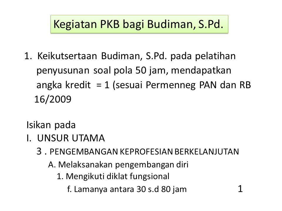 Kegiatan PKB bagi Budiman, S.Pd.