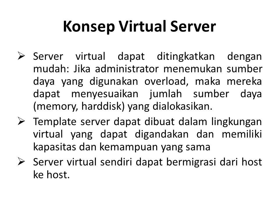 Konsep Virtual Server