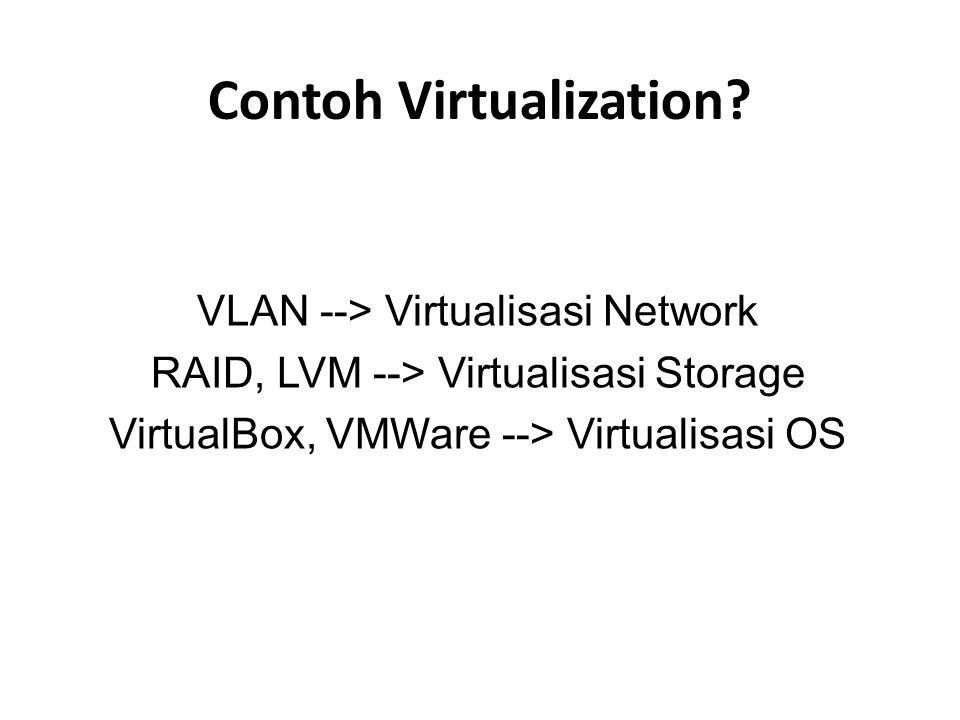 Contoh Virtualization