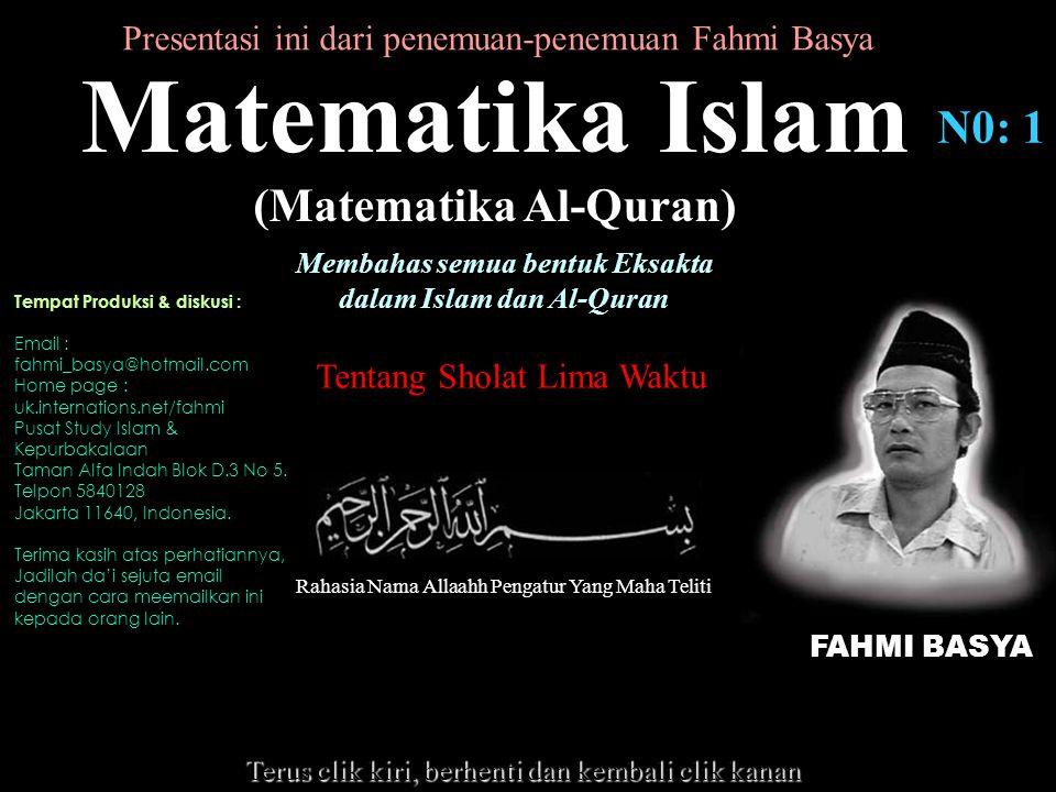 Matematika Islam N0: 1 (Matematika Al-Quran)