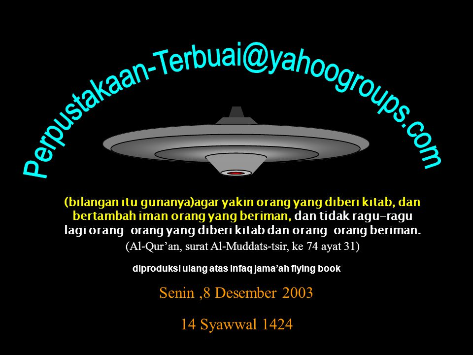 diproduksi ulang atas infaq jama'ah flying book