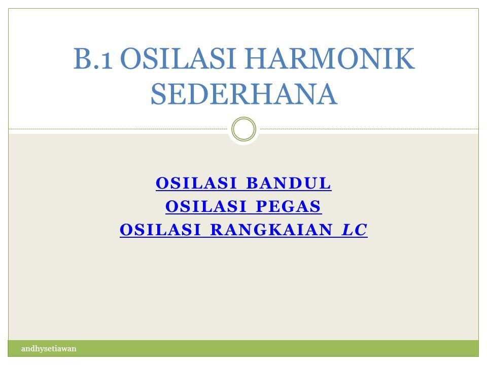 B.1 OSILASI HARMONIK SEDERHANA
