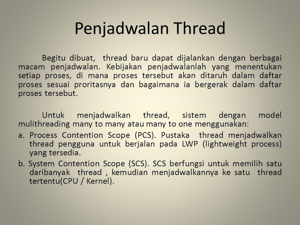 Penjadwalan Thread
