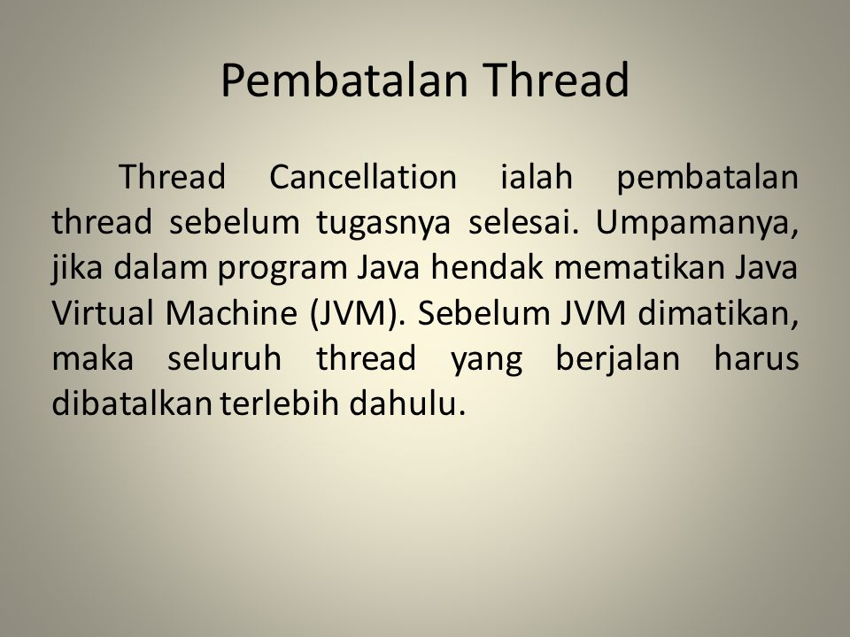 Pembatalan Thread