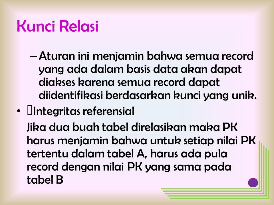 Kunci Relasi