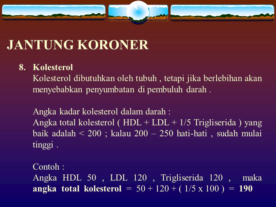 JANTUNG KORONER Kolesterol