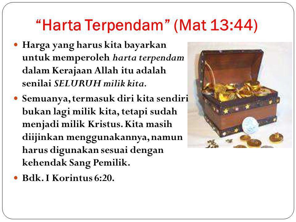 Harta Terpendam (Mat 13:44)