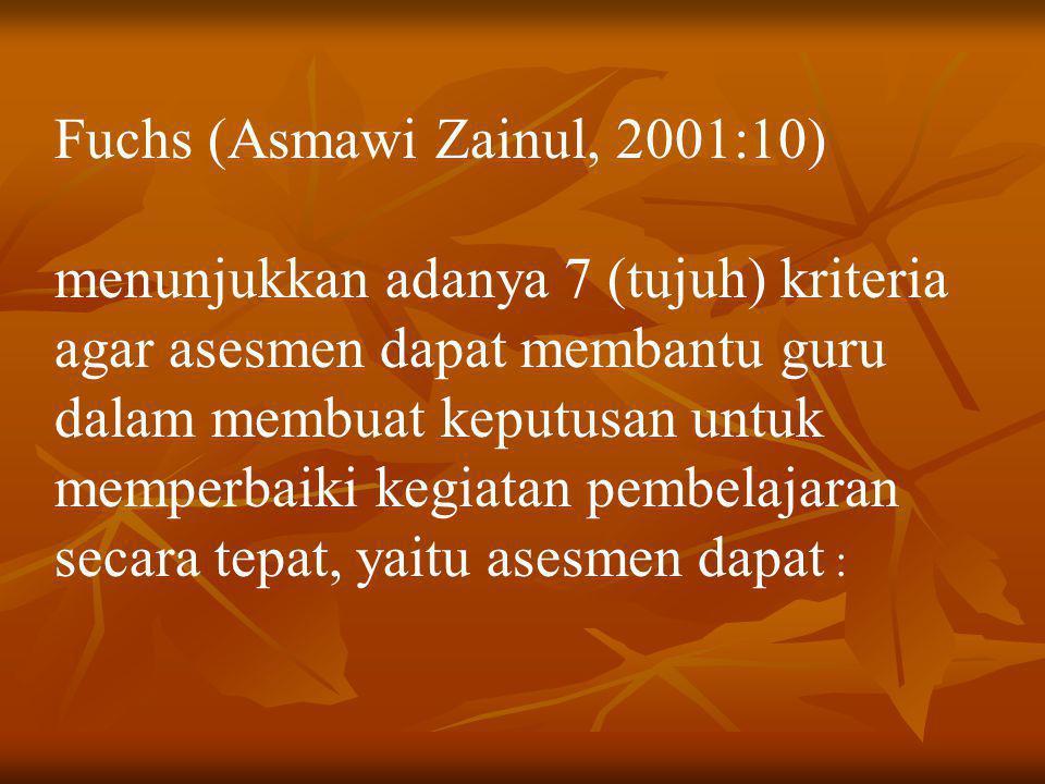 Fuchs (Asmawi Zainul, 2001:10)