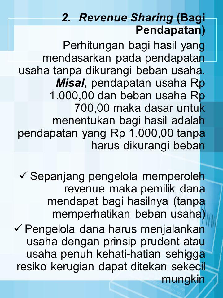 Revenue Sharing (Bagi Pendapatan)