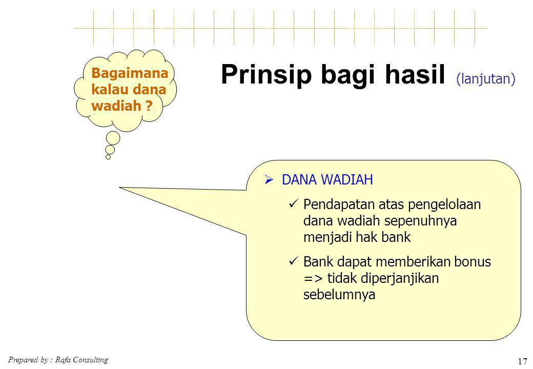 Prinsip bagi hasil (lanjutan)