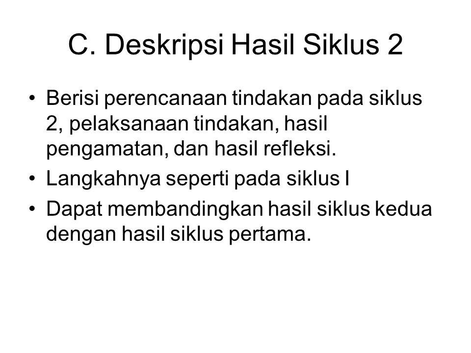C. Deskripsi Hasil Siklus 2