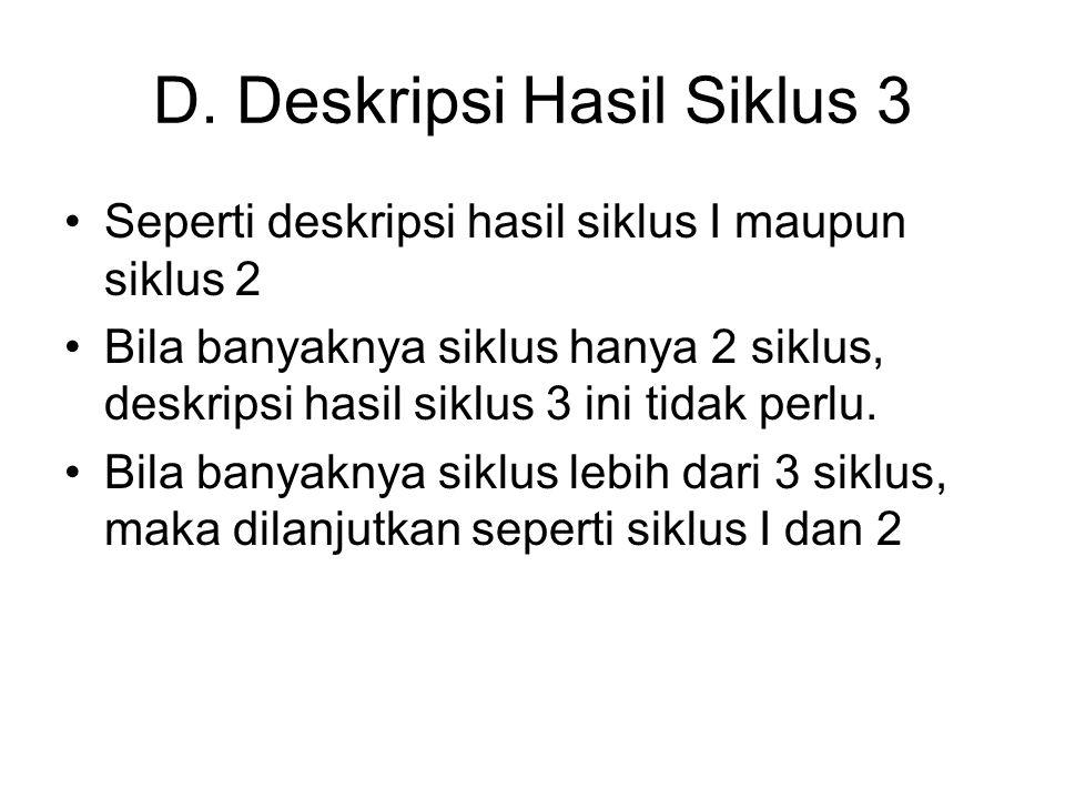 D. Deskripsi Hasil Siklus 3