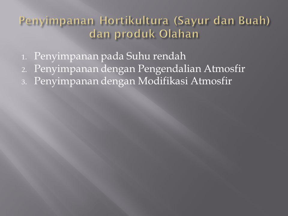 Penyimpanan Hortikultura (Sayur dan Buah) dan produk Olahan