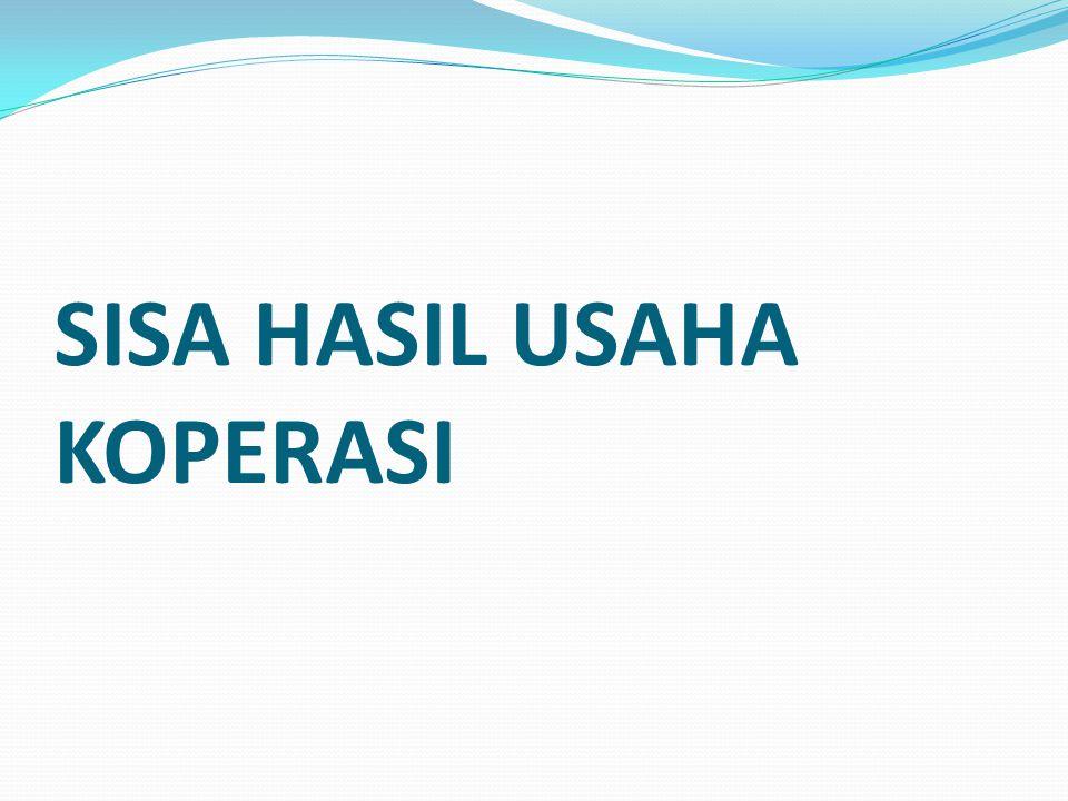 SISA HASIL USAHA KOPERASI