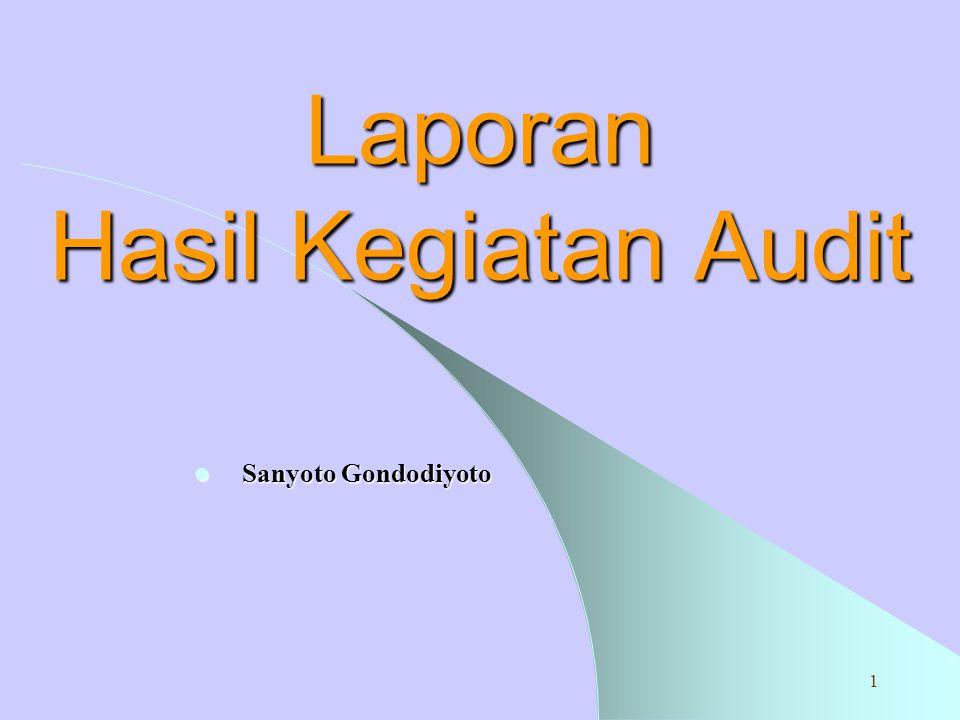 Laporan Hasil Kegiatan Audit