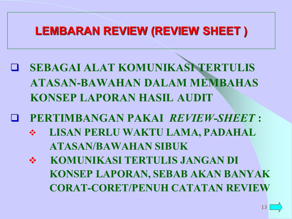 LEMBARAN REVIEW (REVIEW SHEET )