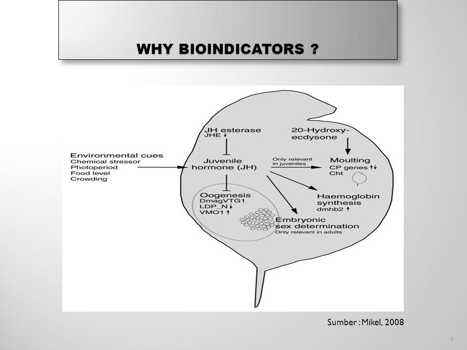 WHY BIOINDICATORS Sumber : Mikel, 2008