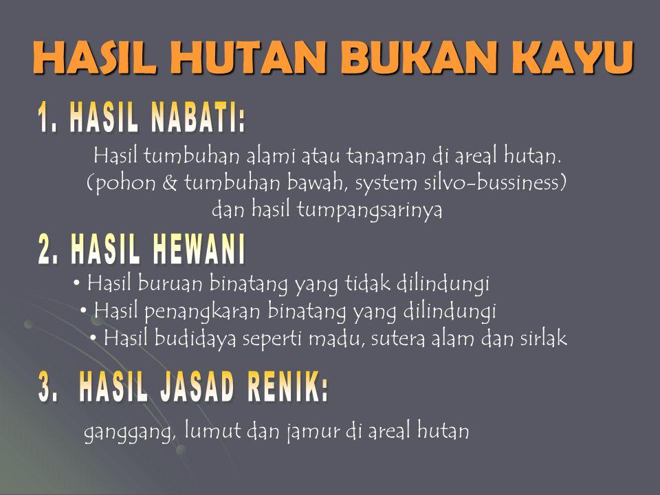 HASIL HUTAN BUKAN KAYU 1. HASIL NABATI: