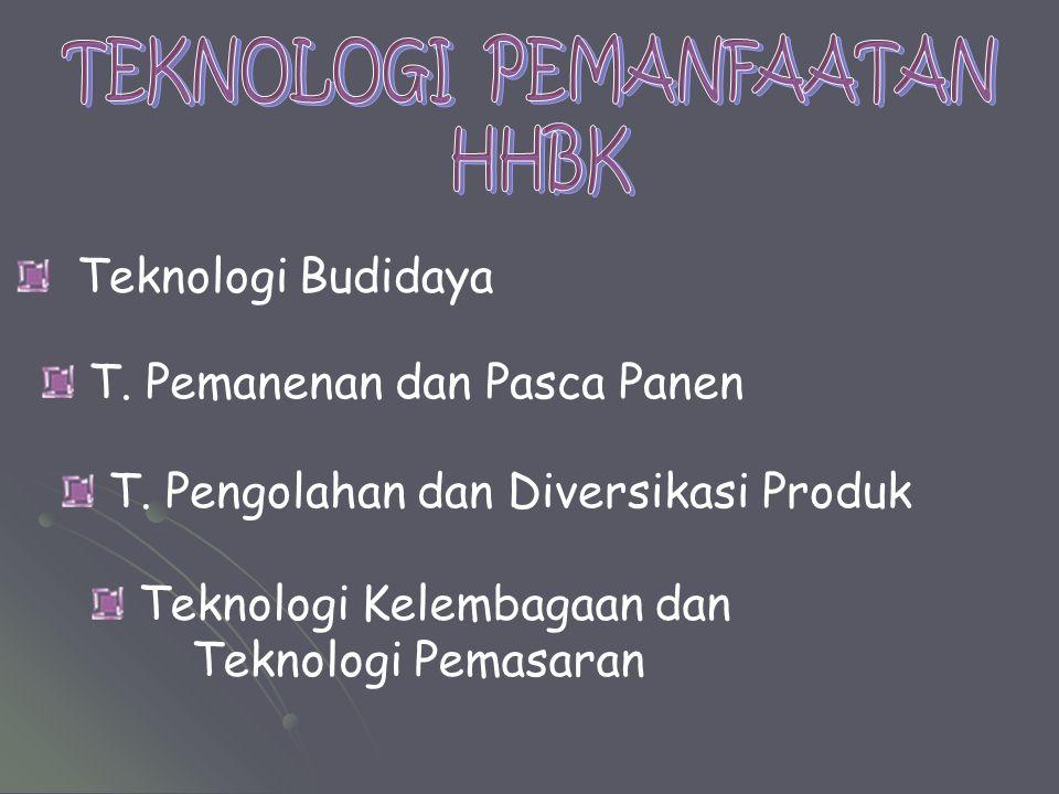 TEKNOLOGI PEMANFAATAN HHBK