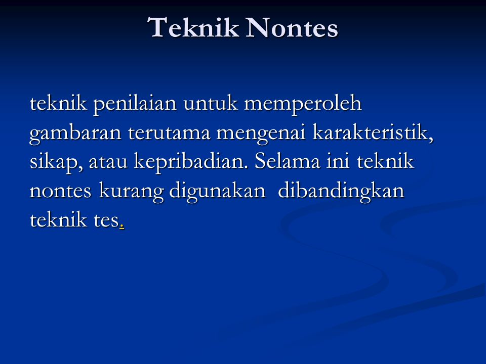 Teknik Nontes