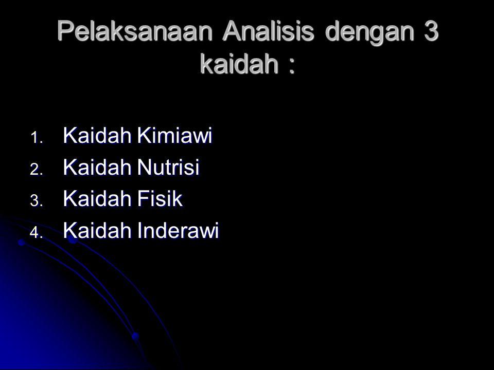 Pelaksanaan Analisis dengan 3 kaidah :