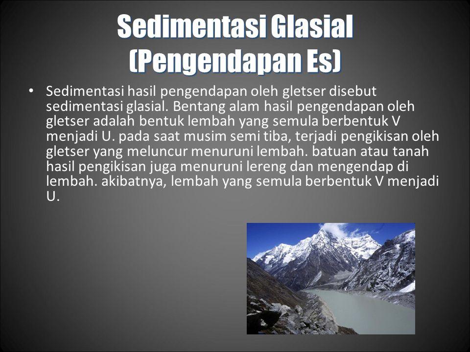 Sedimentasi Glasial (Pengendapan Es)