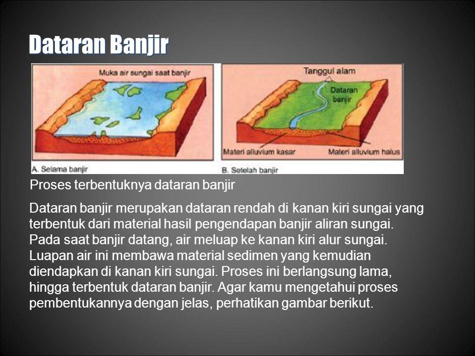 Dataran Banjir Proses terbentuknya dataran banjir