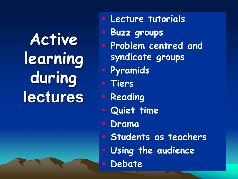 Active learning during lectures