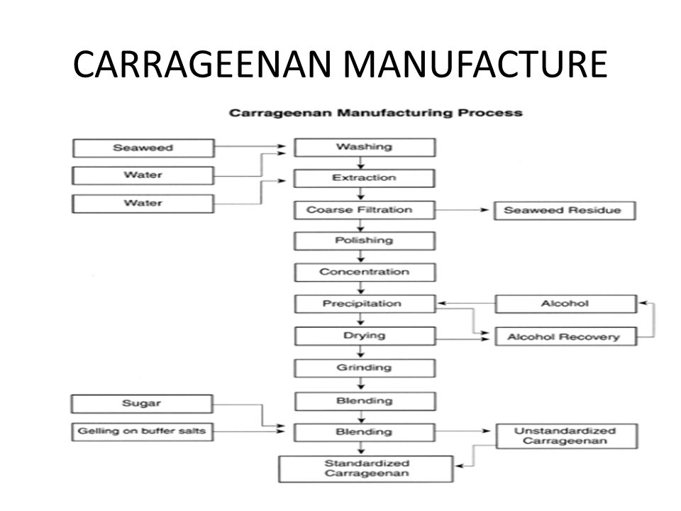 CARRAGEENAN MANUFACTURE