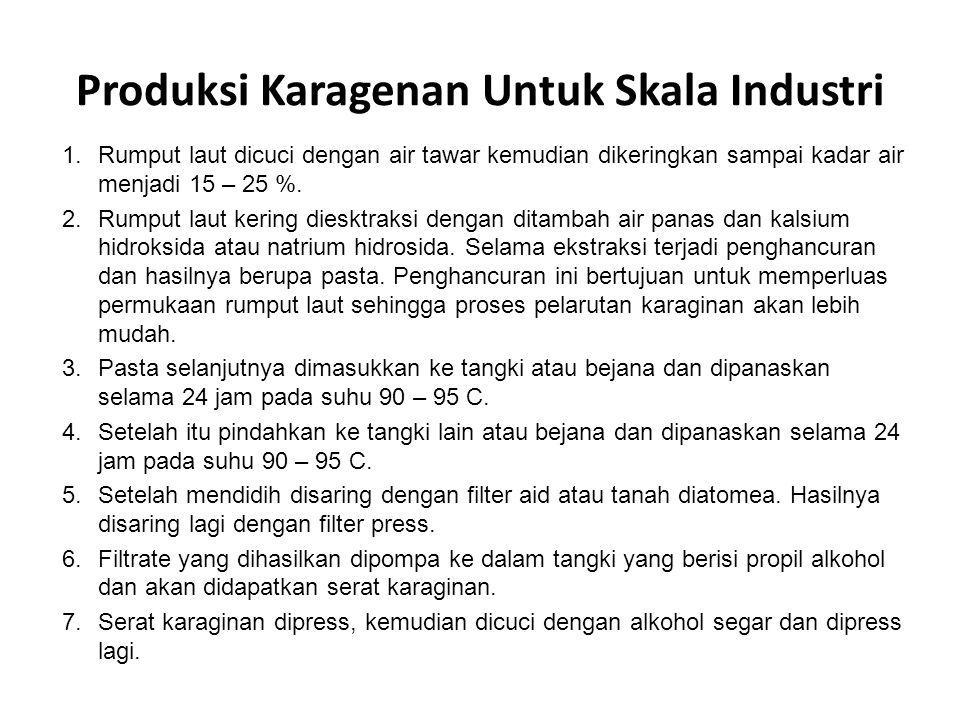 Produksi Karagenan Untuk Skala Industri