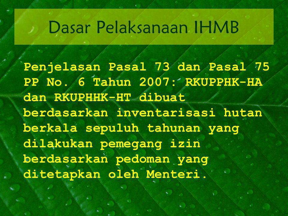 Dasar Pelaksanaan IHMB