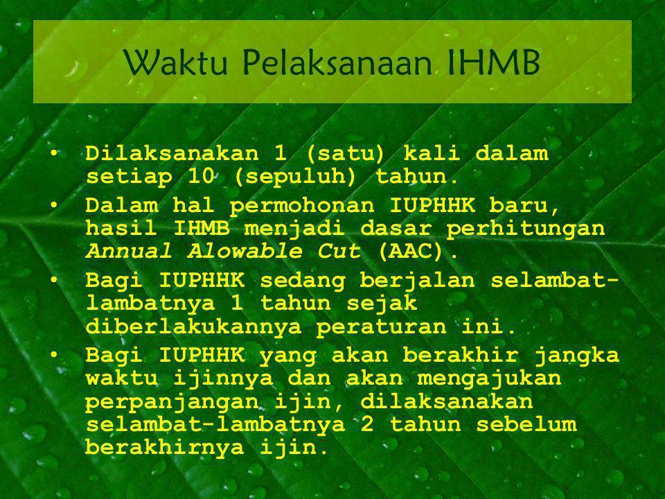 Waktu Pelaksanaan IHMB