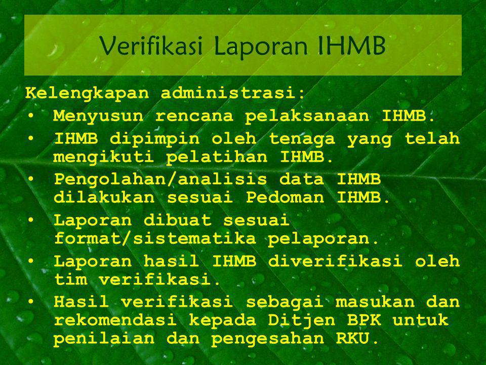 Verifikasi Laporan IHMB