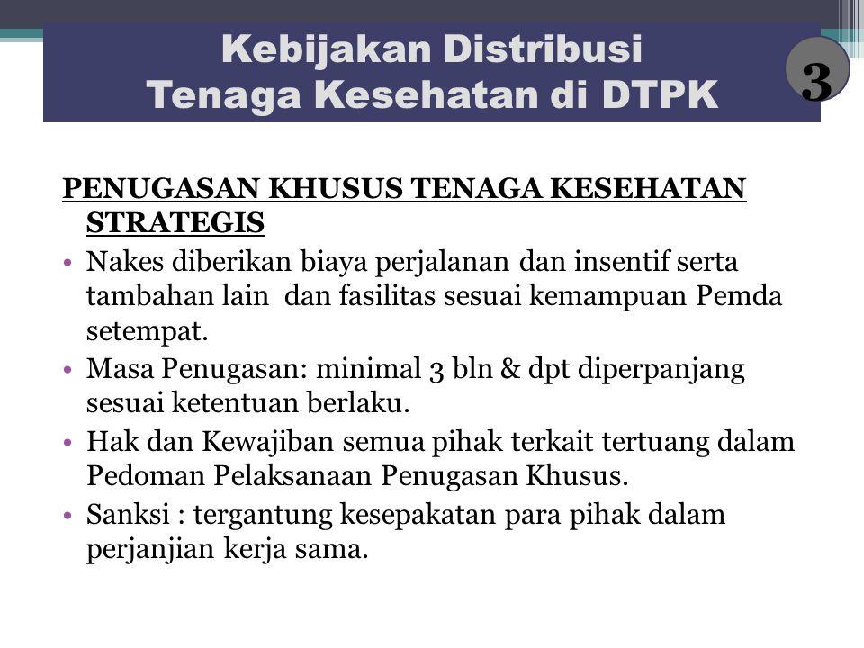 Kebijakan Distribusi Tenaga Kesehatan di DTPK