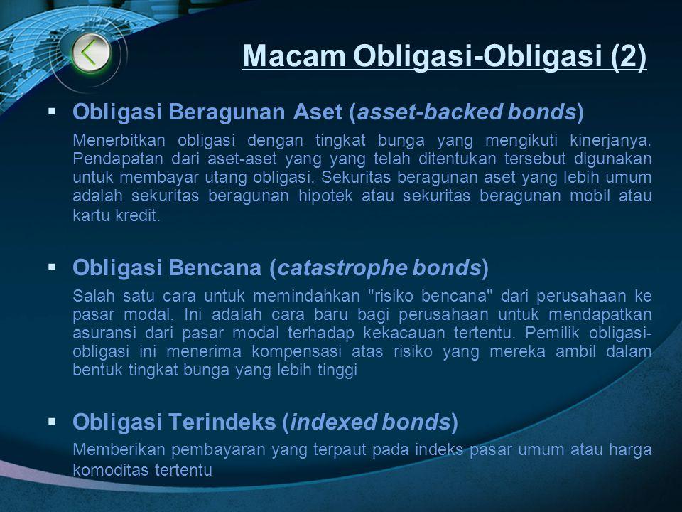 Macam Obligasi-Obligasi (2)
