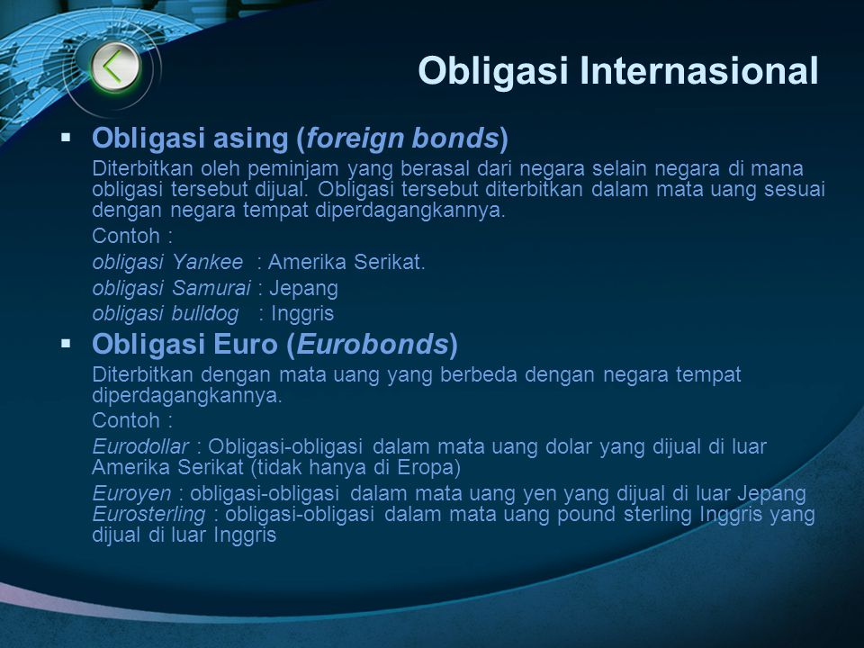 Obligasi Internasional