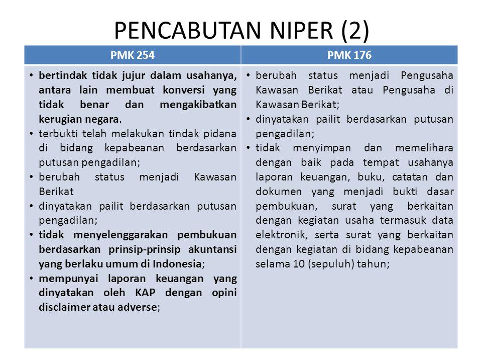 PENCABUTAN NIPER (2) PMK 254 PMK 176