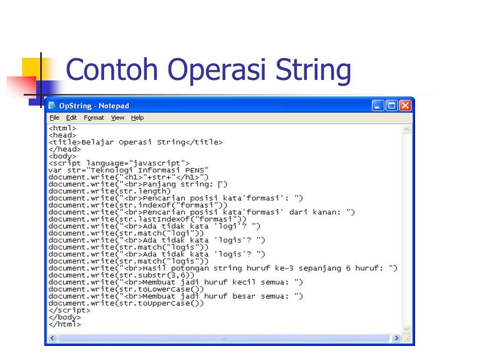 Contoh Operasi String