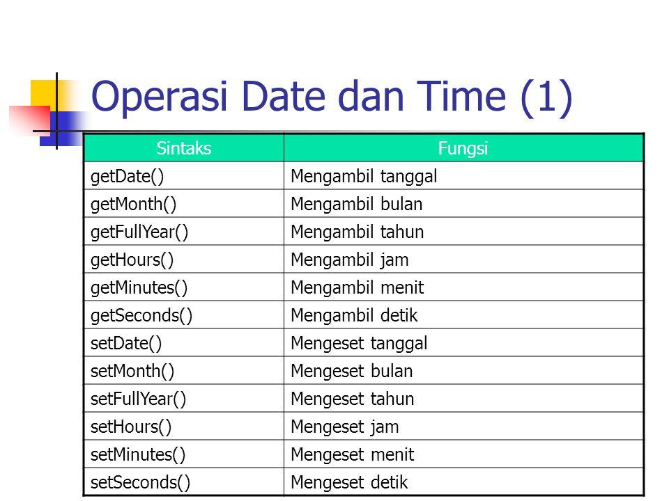 Operasi Date dan Time (1)