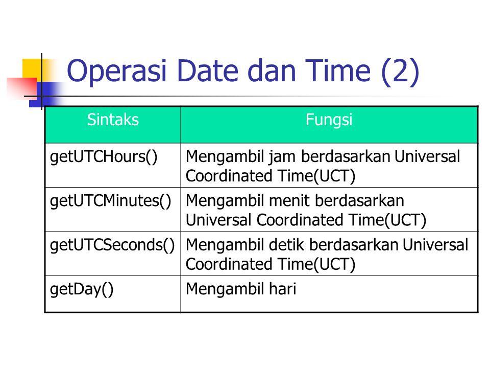 Operasi Date dan Time (2)