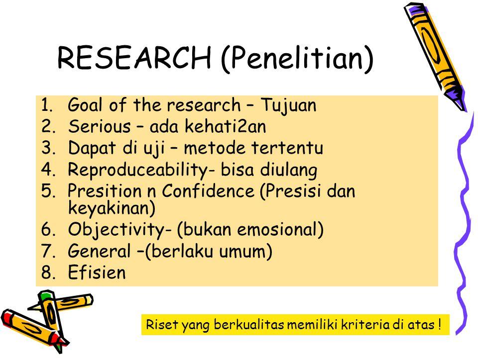 RESEARCH (Penelitian)