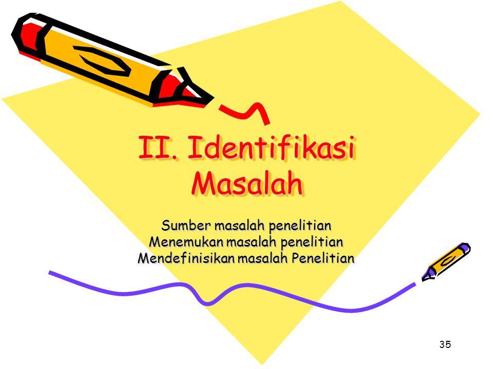 II. Identifikasi Masalah