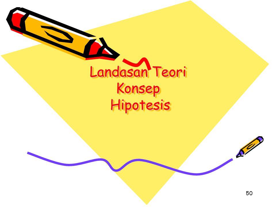 Landasan Teori Konsep Hipotesis