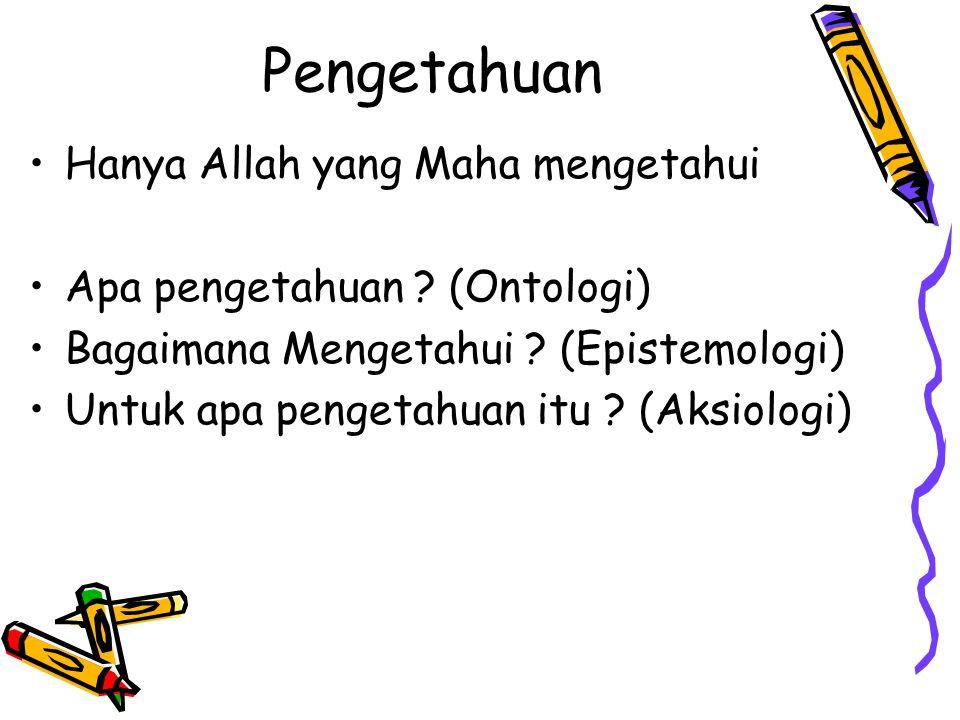 Pengetahuan Hanya Allah yang Maha mengetahui