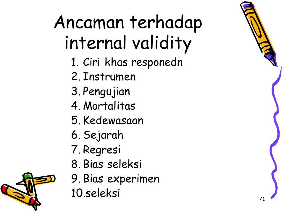 Ancaman terhadap internal validity
