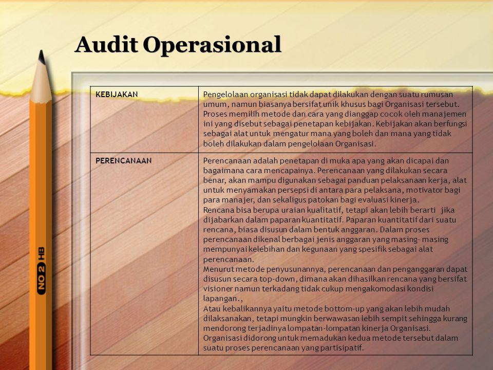 Audit Operasional KEBIJAKAN